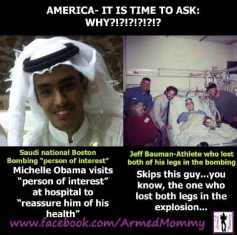 There is speculation that the Saudi 'person of interest,' Abdul Rhaman Ali Alharbi, is Osama bin Laden's son.