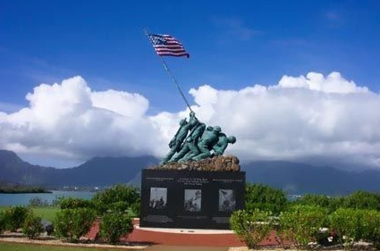 The Iwo Jima Memorial at Marine Corps Base Kaneohe