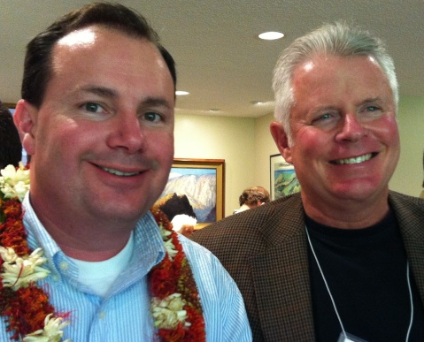 Hubby with Senator Mike Lee
