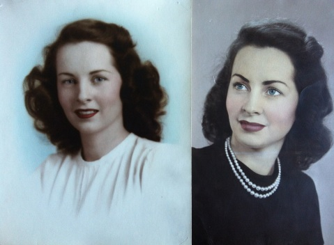 Rosemary as a young teenager (left) and age 19 (right)
