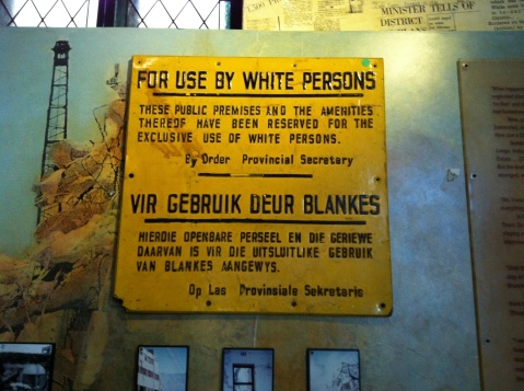 Taken at the District 6 Museum in Cape Town
